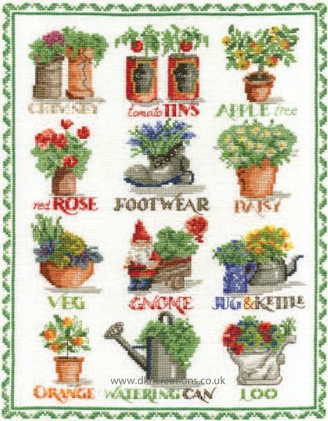 Gardening Sampler Cross Stitch Kit